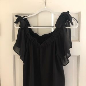 Black blouse with bows, Size M